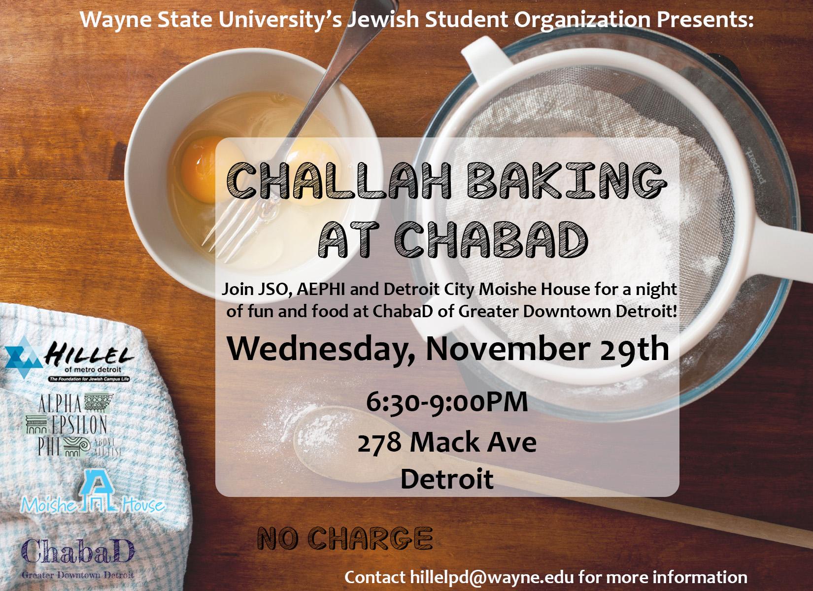 WSU JSO Challah Baking