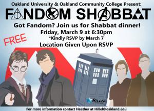 OU OCC Fandom Shabbat