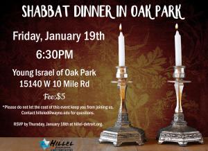 Shabbat Dinner Jan19