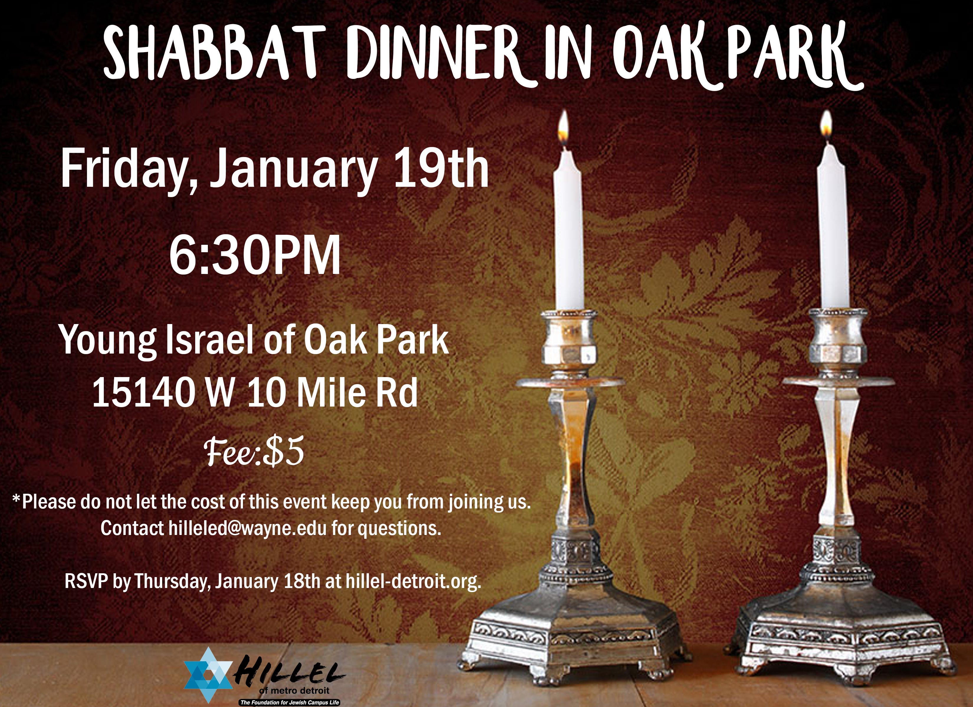 Shabbat Dinner Jan19