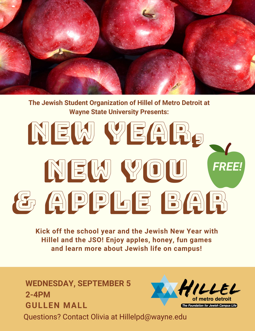 WSU JSO Welcome Back New Year, New You & Apple Bar | Hillel