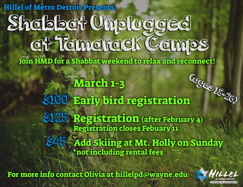 Shabbat Unplugged @ tamarack camps